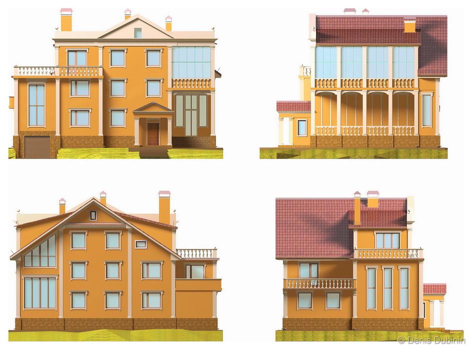 Проекты и дизайн коттеджей и частных домов