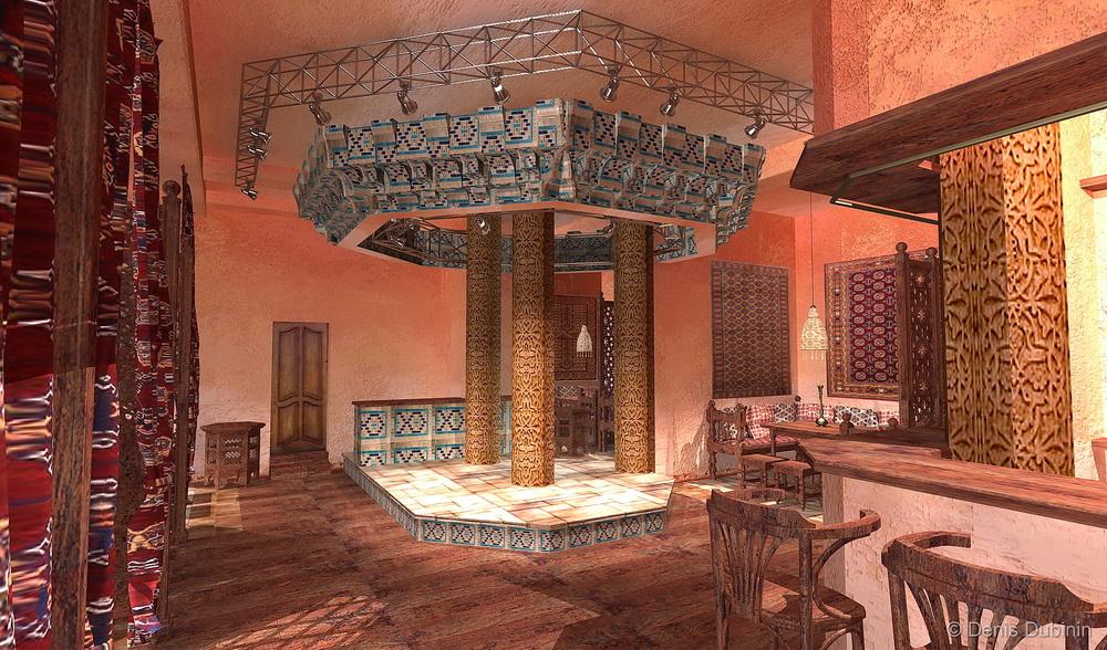 Узбекский дизайн интерьеров
